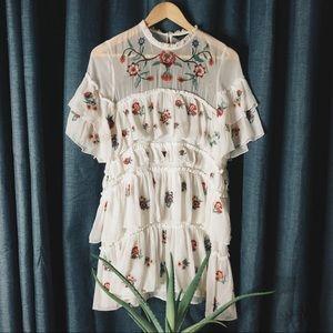 Zara Tiered Mini Dress
